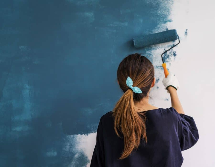 lady painting a wall