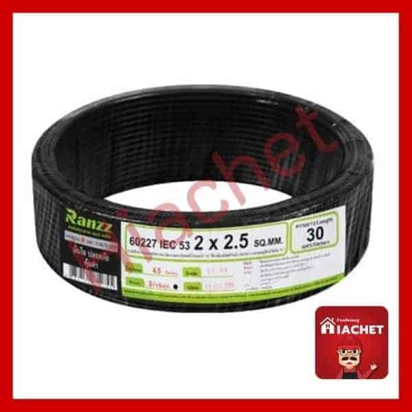 สายไฟ VCT IEC53 RANZZ 2x2.5 ตร.มม. 30 ม. สีดำ
